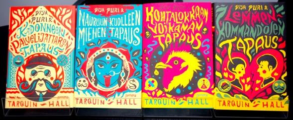 Vish Puri -sarjan kaikki neljä teosta on suomentanut Tero Valkonen. Kirjailijaa miellyttäneet kannet on suunnitellut Tuomo Parikka.