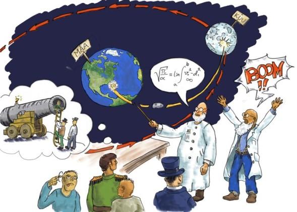 Tiedemiehet suunnittelevat Kuumatkaa Jules Vernen tarinaan perustuvassa iltasadussa