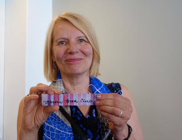 Heidi Köngäs elokuussa Otavan syksyn tiedotustilaisuudessa.