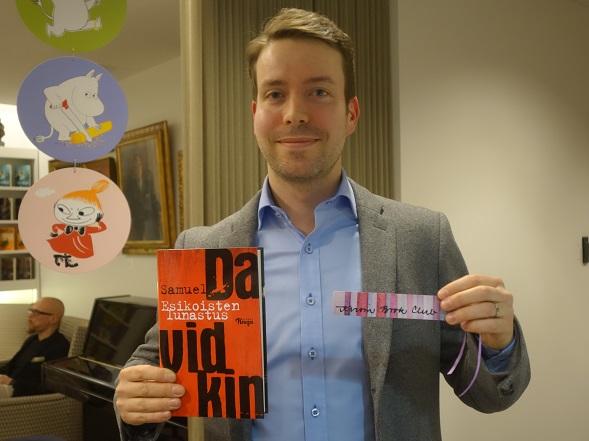 Samuel Davidkin kertoi maaliskuussa kirjastaan Bonnierin järjestämässä tilaisuudessa.