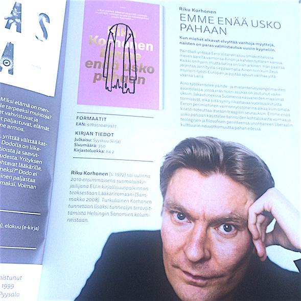 Riku Korhone kuvattuna WSOY:n katalogista.