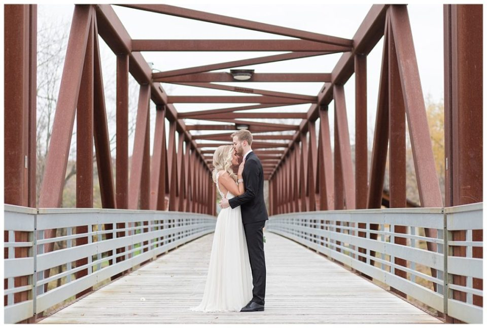 Rock Island Swing Bridge Wedding Photos