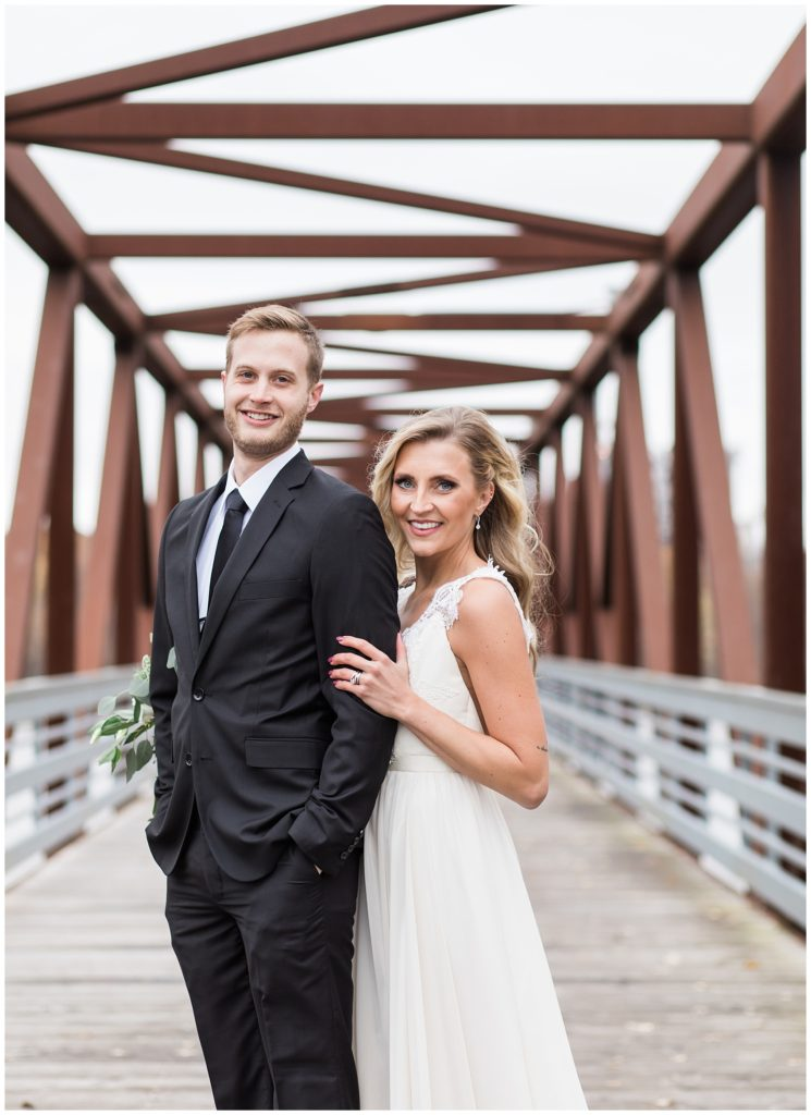 Rock Island Swing Bridge Wedding Photos