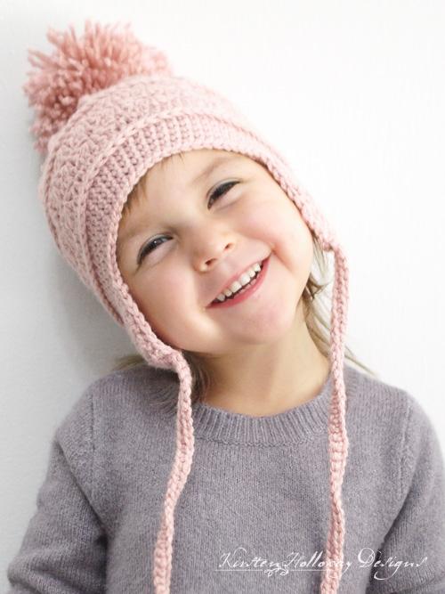 Crochet Earflap Hat Pattern With Braided Ties - Art ...