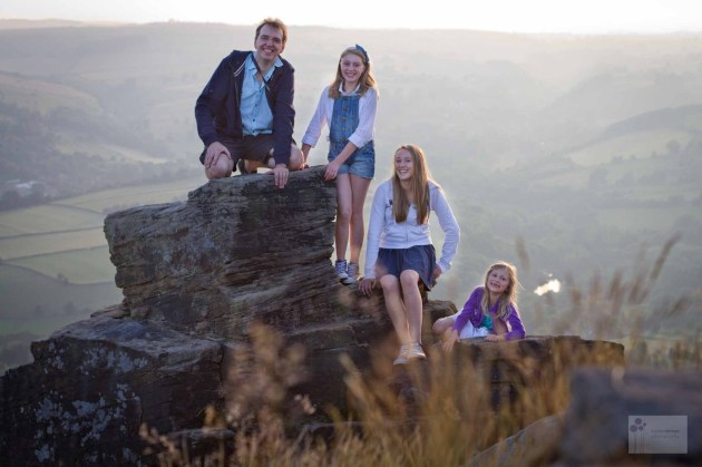 Family in the peaks