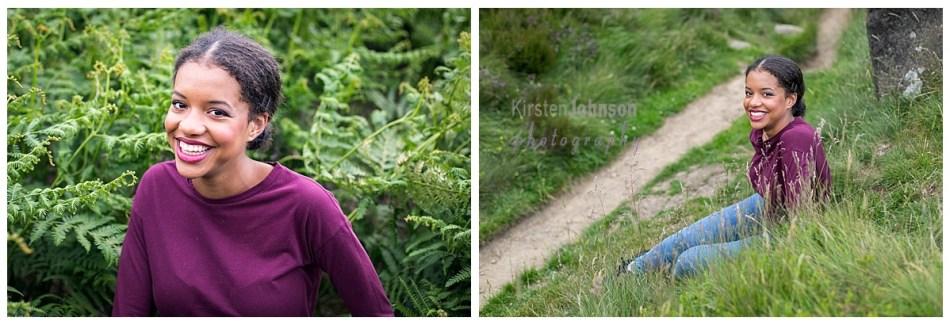 Two photographs of teenage girls in peaks