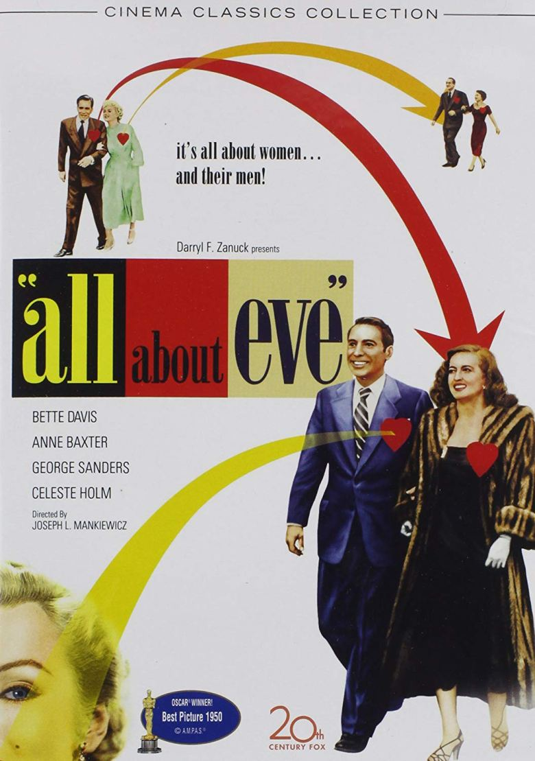bette davis, anne baxter, joseph l. mankiewicz, marilyn monroe, movie, movies, black and white, vintage, classic, all about eve,