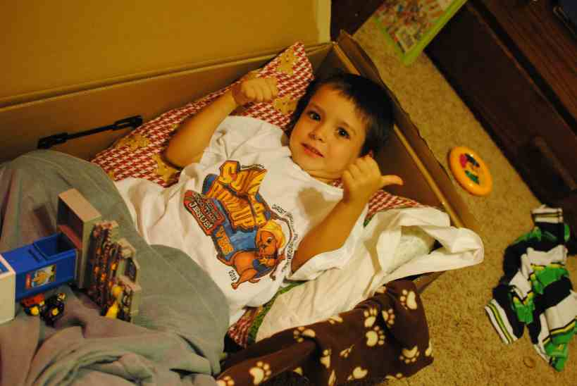 Cardboard box activities for Toddlers