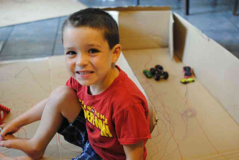 Fun cardboard box activities for toddlers