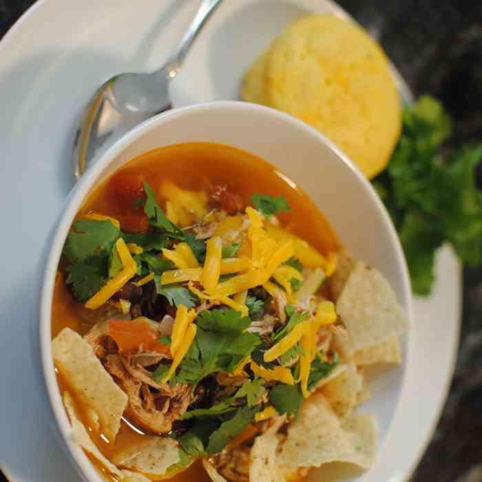 Chicken Tortilla Soup Two Ways