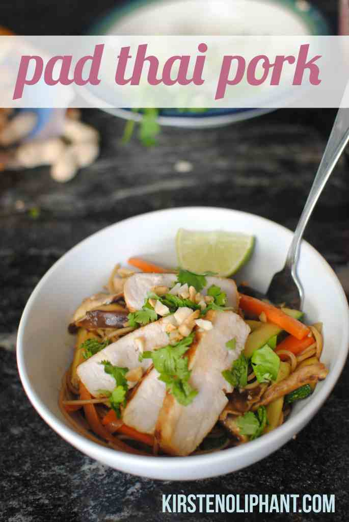 Simple and delicious Pad Thai with Pork