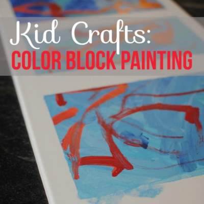 Kid Crafts with Paint: Color Block Painting