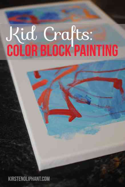 An easy kid craft that looks great on the walls: color block painting.