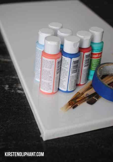 Color Block Painting Supplies