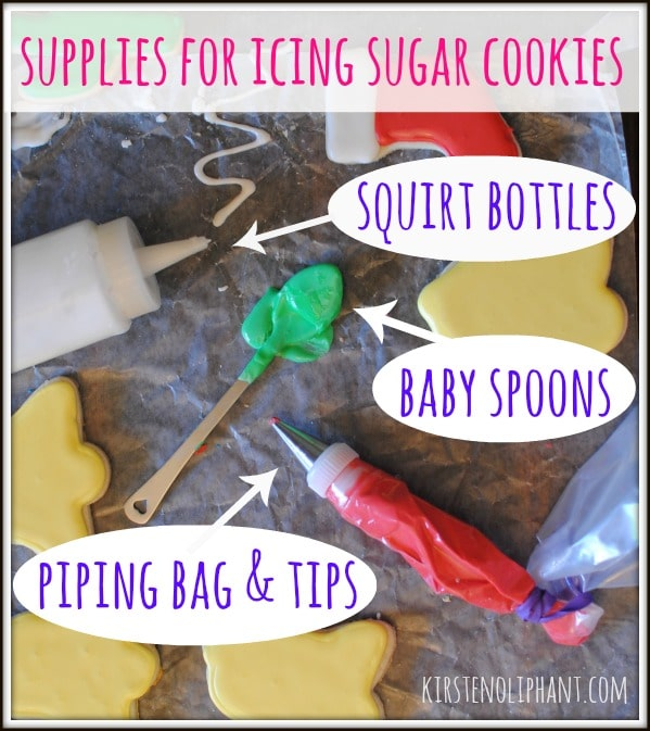 Here are my favorite tools for icing sugar cookies.