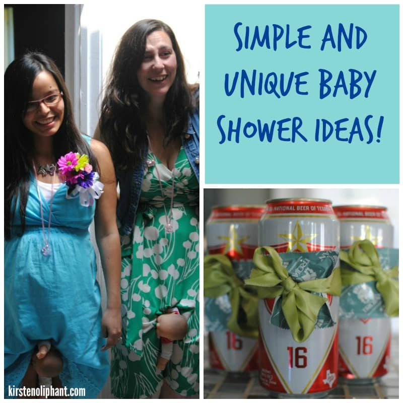 Simple and Unique Baby Showers