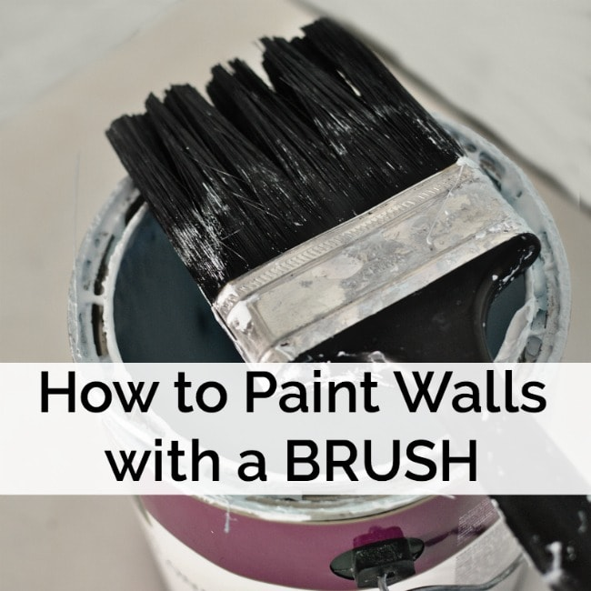 How to Paint Walls Using a Brush