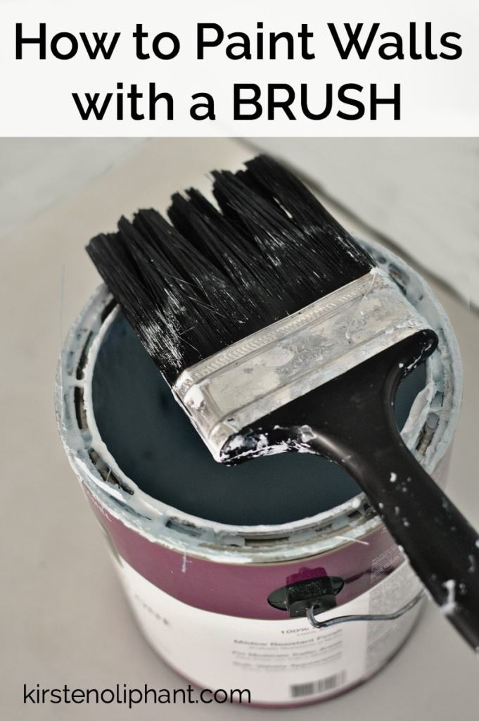 How to paint walls using a brush instead of a roller and WHY I prefer this method!