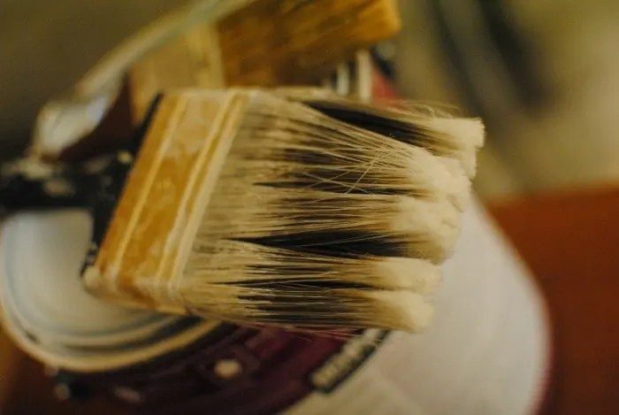Why you might consider painting walls with a brush instead of a roller.