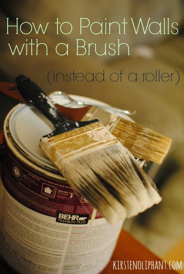 How to Paint Walls Using a Brush (instead of a roller). Tips and Tricks plus Video Tutorial!