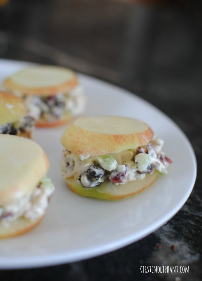 Try these delicious and stupid simple chicken salad apple sandwiches for a sweet crunch.