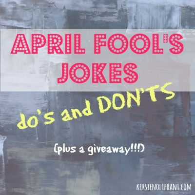 April Fool's Jokes (and a Giveaway!)