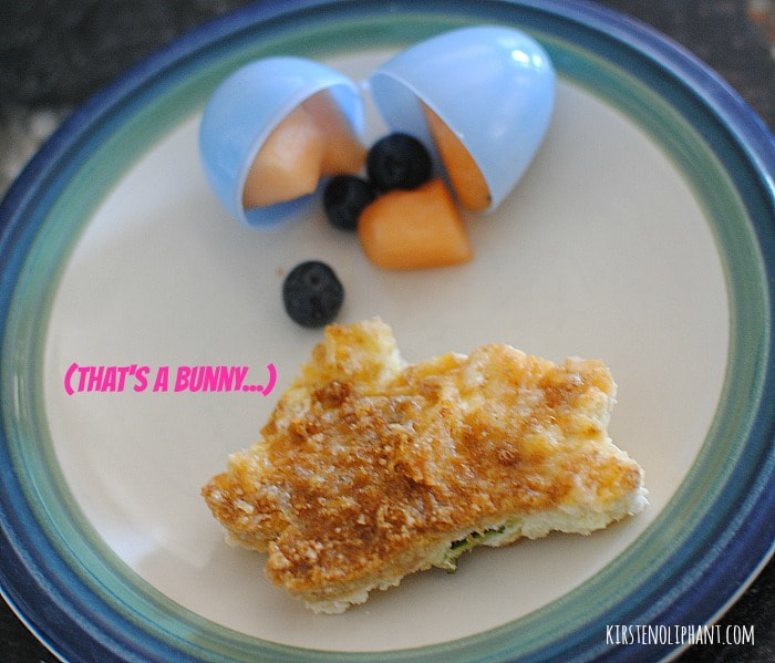 A #FreshTake on Easter breakfast casserole with cookie cutter shapes and fruit-filled eggs. #shop #cbias