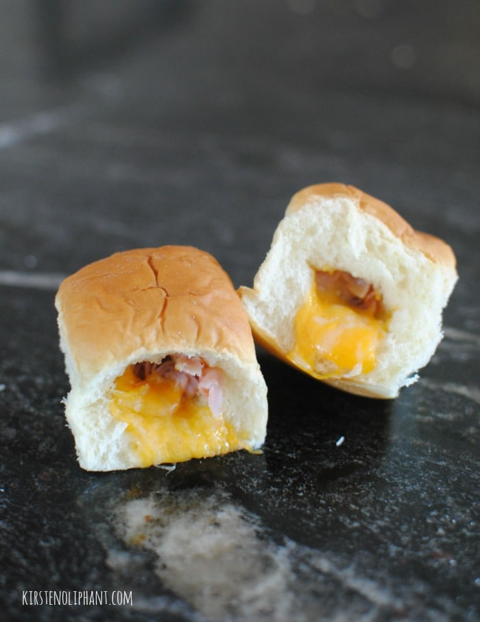 Warm, melt-y ham and cheese kolaches.