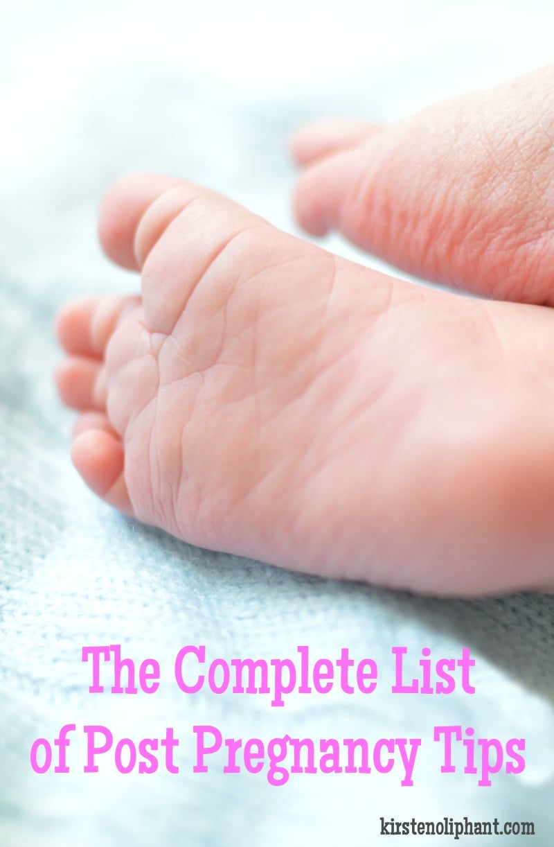 Ready for recovery? Check out this big list of post pregnancy tips to help you adjust to life with baby.