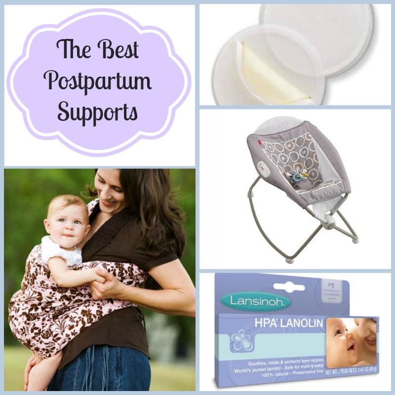 Some fabulous products for postpartum support.