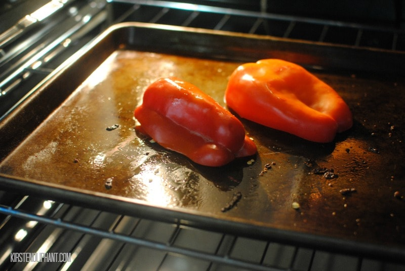 An easy way to create roasted peppers.