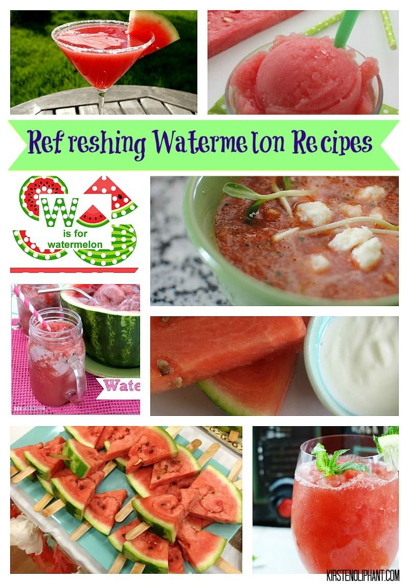 These watermelon recipes cover everything from printables and facials to salads and cocktails. Perfect for summer!