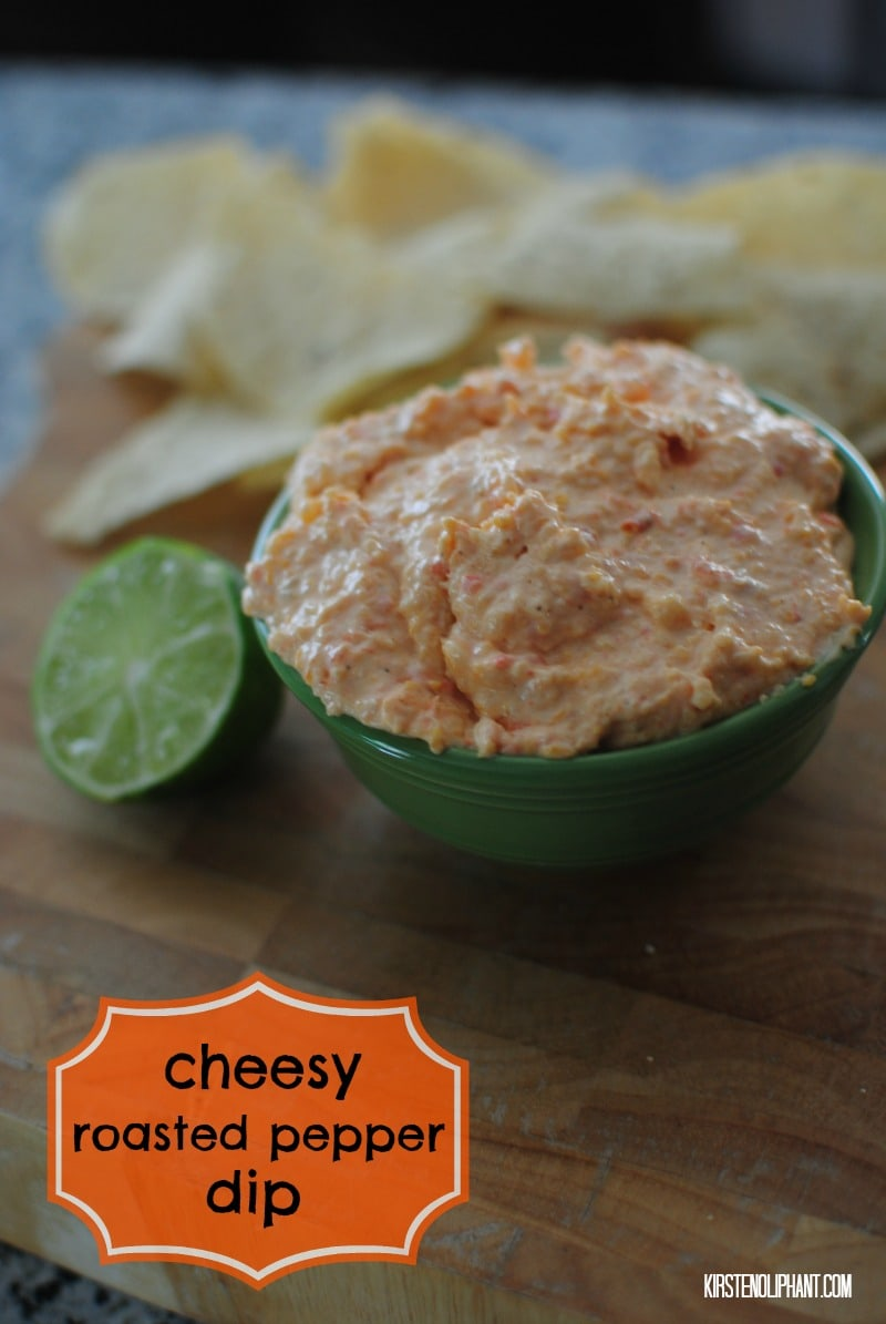Delicious cheesy roasted pepper dip. #PackedwithSavings #shop