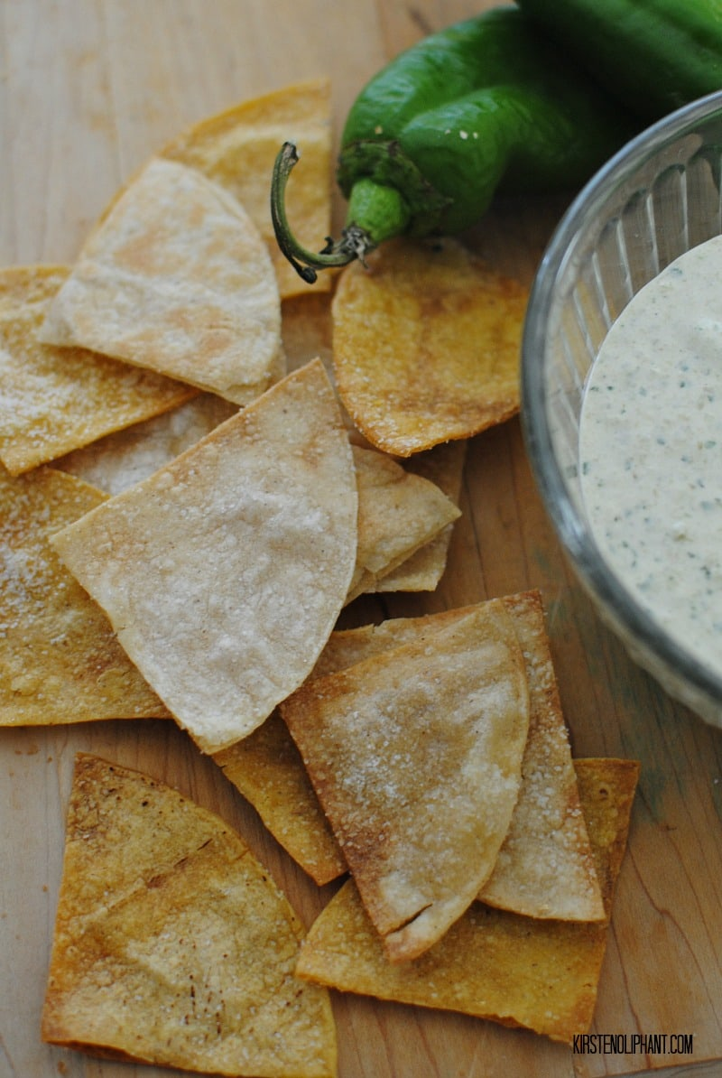 In under 20 minutes, you can make these easy baked tortilla chips