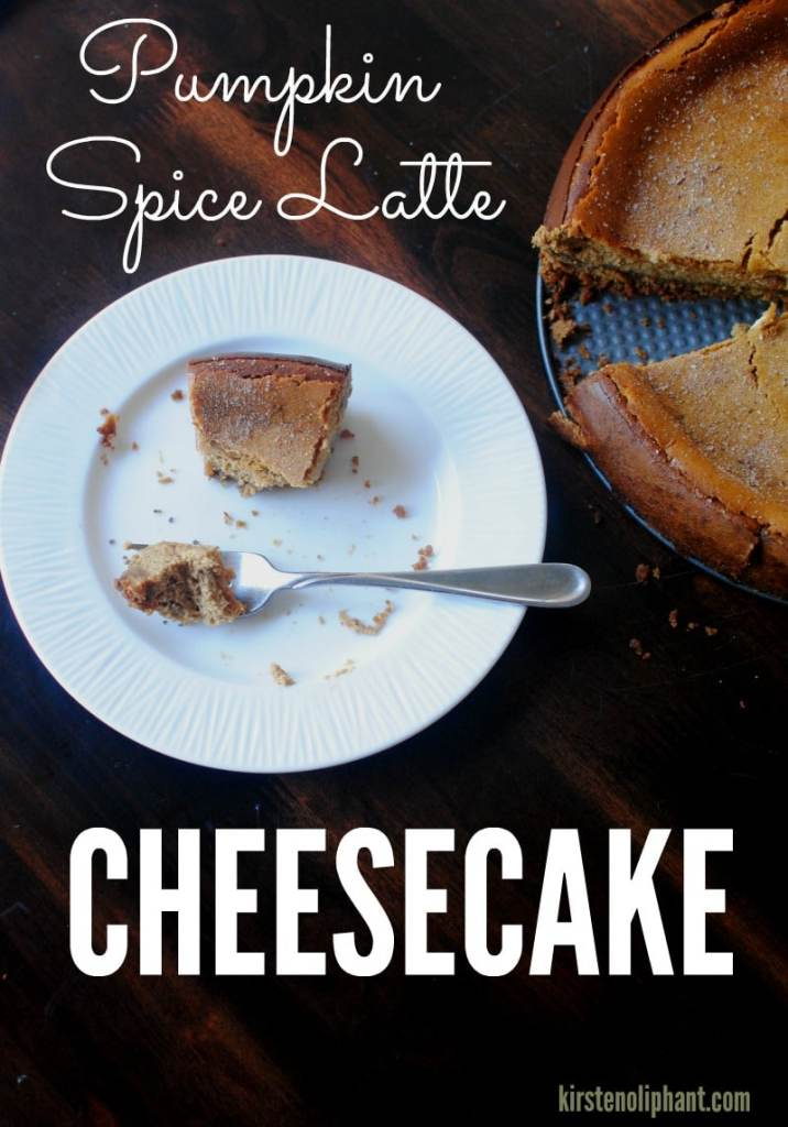 A delicious update on pumpkin cheesecake: pumpkin spice latte cheesecake. The coffee flavor tempers out the sweetness for a great balance.