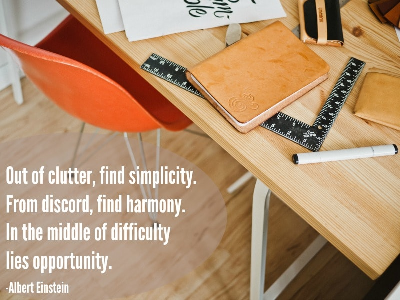 Don't get overwhelmed with clutter OR the many ideas for organization. Make small daily changes!