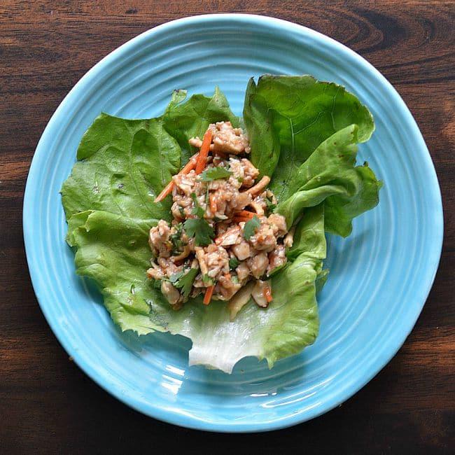 Cool Chicken Lettuce Wraps