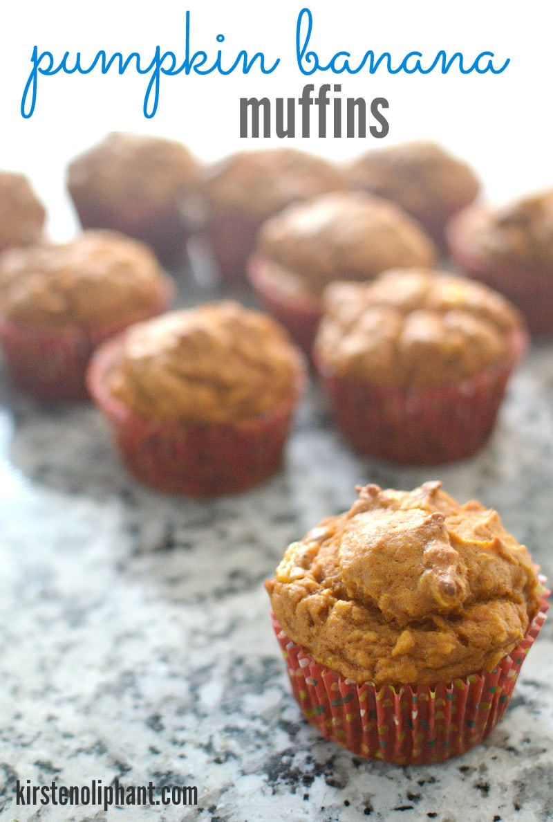 A lovely twist on the banana muffin, these pumpkin banana muffins are simple and delicious!
