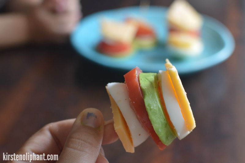 Try these egg stacks with avocado and eggs! #ad