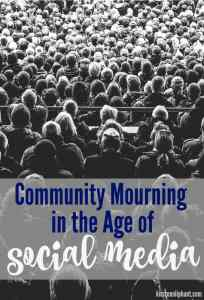 It can be hard to know what we should and shouldn't post on social media during times of tragedy. A few thoughts on community mourning and sitting in silence.