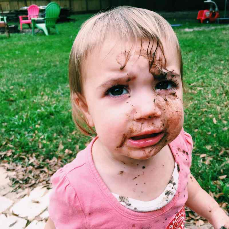 Quin on a normal day. A big mess of a sweet girl.