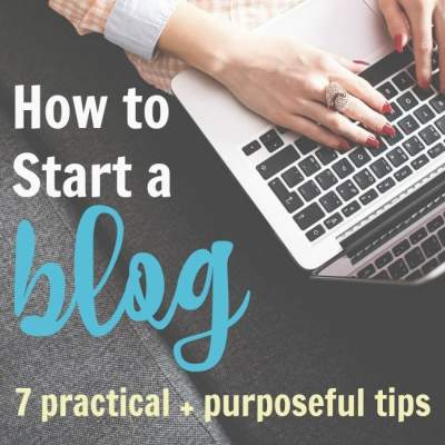 So, You Want to Start a Blog?