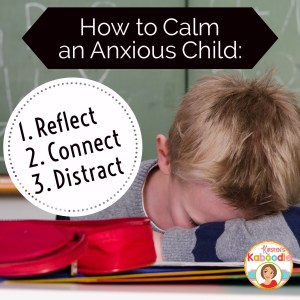 Teachers can use these three easy steps for calming down a student who is upset or anxious at school. This strategy is perfect for the first day of school when teachers face students who are crying and want to go home.