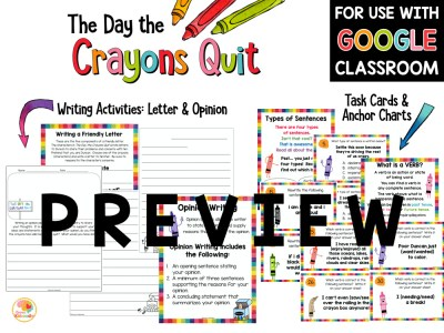 The Day the Crayons Quit Activities PREVIEW