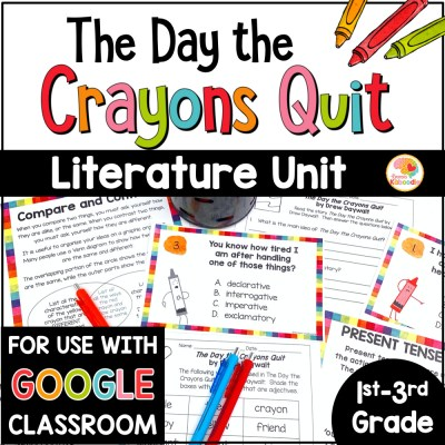 The Day the Crayons Quit Activities COVER