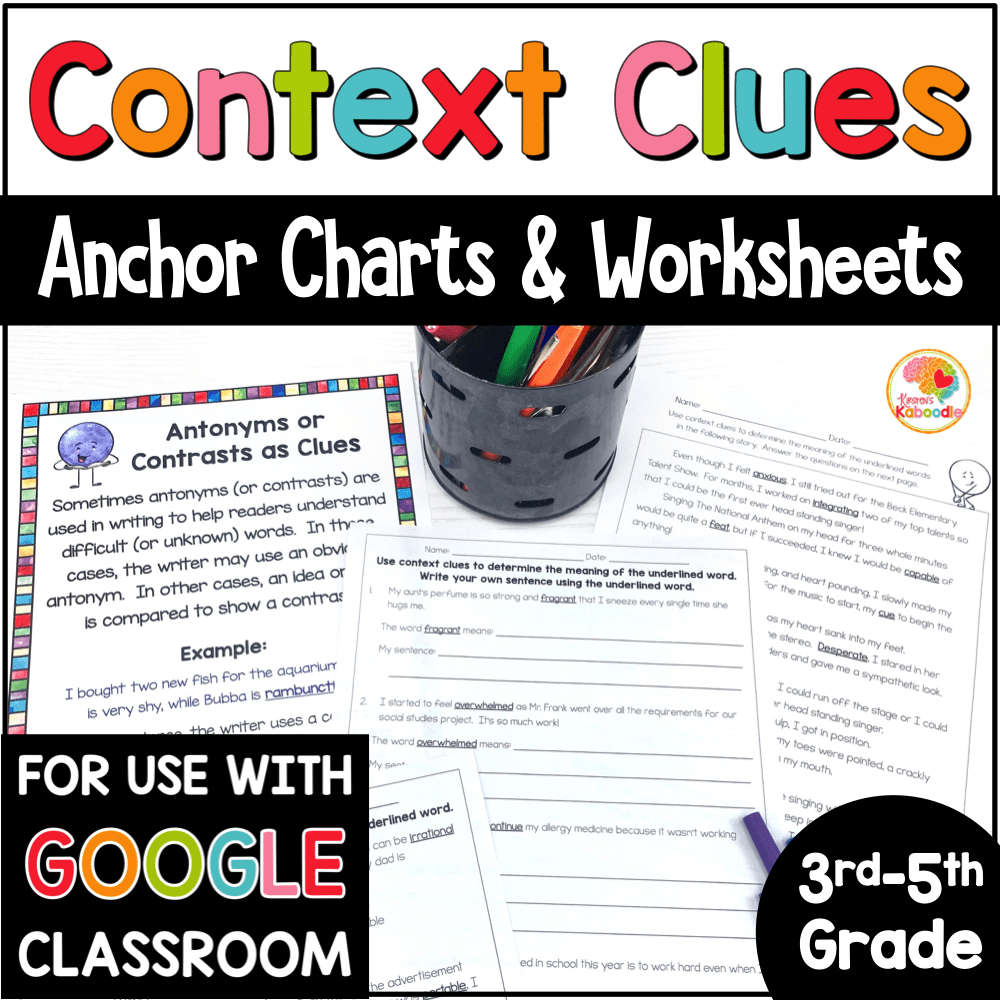 hight resolution of Context Clues Printables and Anchor Charts
