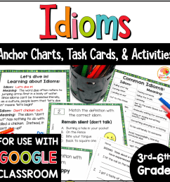 Idioms Task Cards and Activities [ 1000 x 1000 Pixel ]