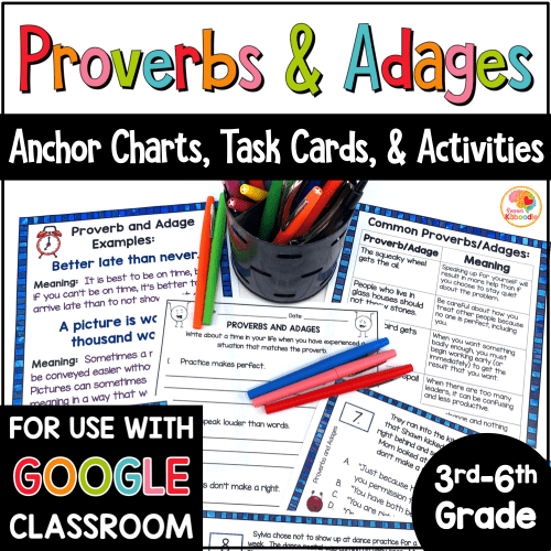 small resolution of Proverbs and Adages Anchor Charts and Activities