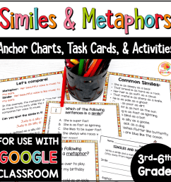 Similes and Metaphors Task Cards and Activities [ 1000 x 1000 Pixel ]