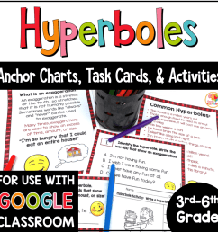 Hyperboles Task Cards and Activities [ 1000 x 1000 Pixel ]